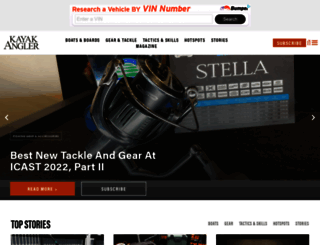kayakanglermag.com screenshot