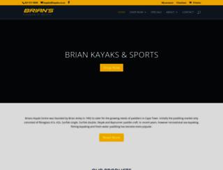kayaks.co.za screenshot
