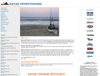 kayaksportfishing.com screenshot