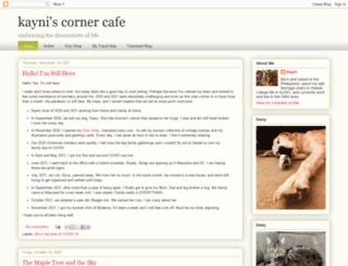 kayniscornercafe.blogspot.com screenshot