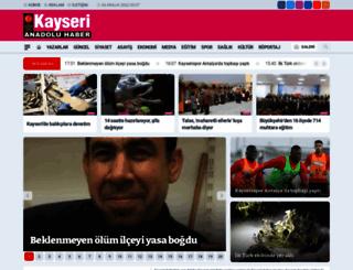 kayserianadoluhaber.com.tr screenshot