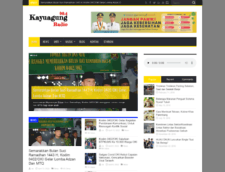 kayuagungradio.com screenshot