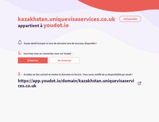 kazakhstan.uniquevisaservices.co.uk screenshot