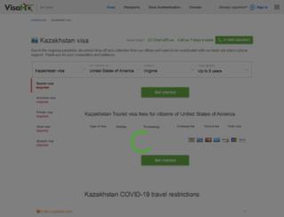 kazakhstan.visahq.com screenshot