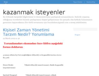 kazanmakisteyenler.bloggum.com screenshot