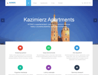 kazimierzapartments.pl screenshot
