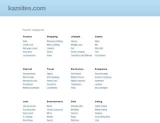 kazsites.com screenshot