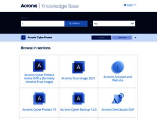 kb.acronis.com screenshot