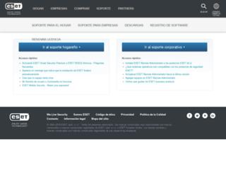 kb.eset-la.com screenshot