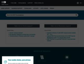 kb.eset.com screenshot