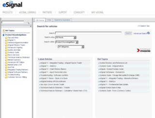 kb.esignalcentral.com screenshot