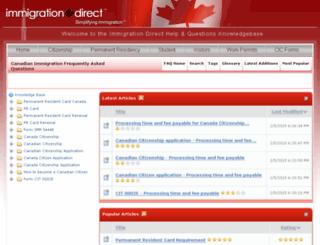 kb.immigrationdirect.ca screenshot