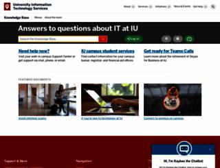 kb.indiana.edu screenshot