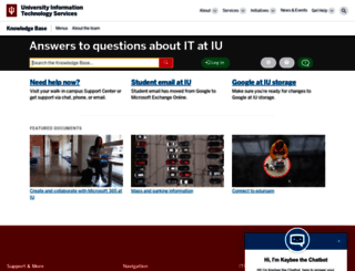 kb.iu.edu screenshot