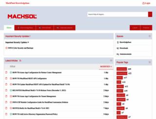 kb.machsol.com screenshot