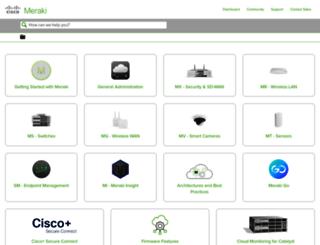 kb.meraki.com screenshot