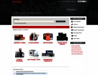 kb.sandisk.com screenshot