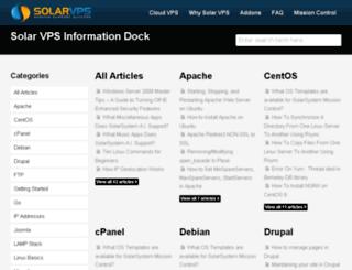 kb.solarvps.com screenshot
