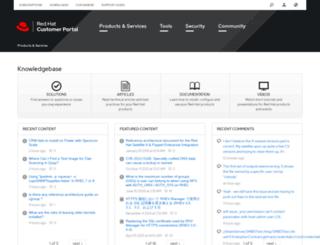 kbase.redhat.com screenshot