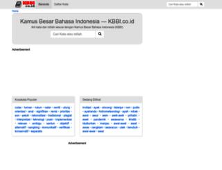 kbbi.co.id screenshot