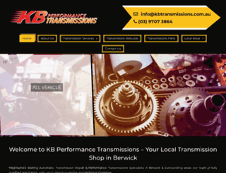 kbtransmissions.com.au screenshot