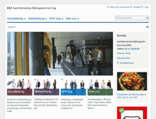 kbz-zug.ch screenshot