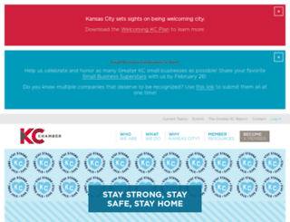 kcchamber.com screenshot