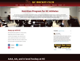 kchockey.ca screenshot