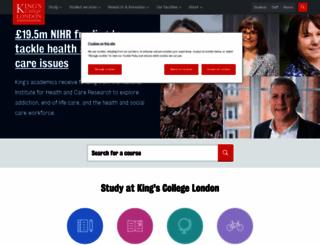 kcl.ac.uk screenshot