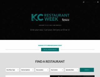kcrestaurantweek.com screenshot