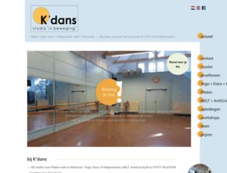kdans.nl screenshot