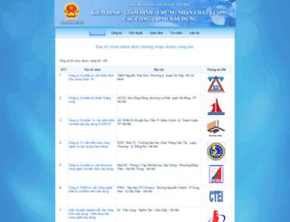 kdcn.xaydung.gov.vn screenshot