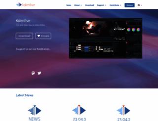 kdenlive.org screenshot