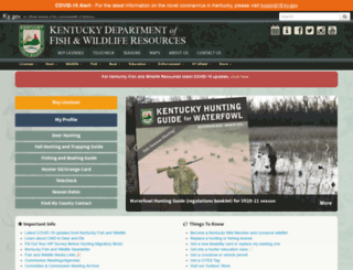 kdfwr.state.ky.us screenshot