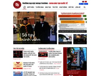 kdtqt.ftu.edu.vn screenshot