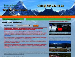 kedarnath-helicopter-booking.triptochardham.com screenshot
