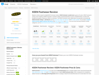 keenfootwear.knoji.com screenshot