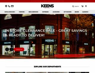 keensfurniture.com screenshot