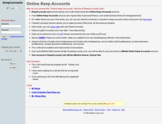 keepaccounts.com screenshot