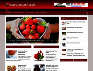 keepahealthyheart.com screenshot