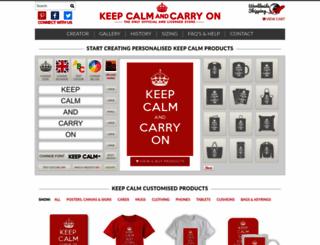 keepcalmandcarryon.com screenshot