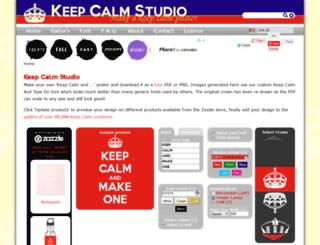 keepcalmstudio.com screenshot