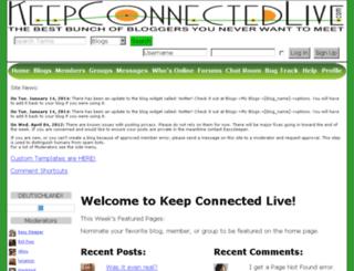 keepconnectedlive.com screenshot