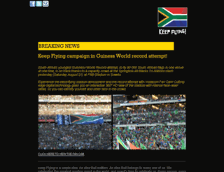 keepflyingtheflag.co.za screenshot
