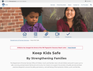 keepkidssafe.pa.gov screenshot