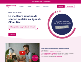 keepschool.maxicours.com screenshot