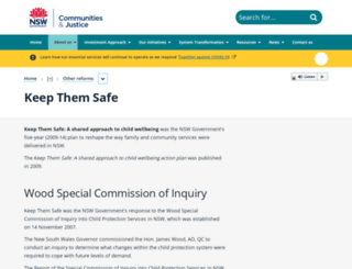keepthemsafe.nsw.gov.au screenshot