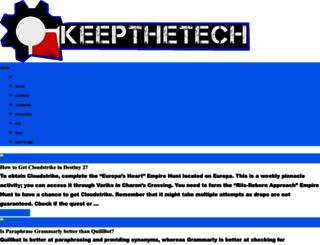 keepthetech.com screenshot