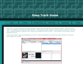 keeptrack.martin2k.co.uk screenshot