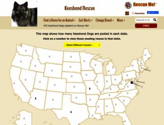 keeshond.rescueme.org screenshot